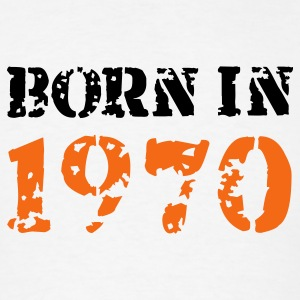 White Born in 1970 T-Shirts - Men's T-Shirt