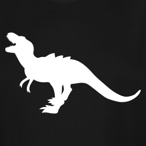 Black TYRANNOSAURUS ROARING DINOSAUR T-Shirts - Men's Tall T-Shirt