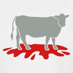White cow meat with blood spatter vegetarian vegan T-Shirts