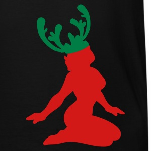 Black CHRISTMAS reindeer sexy woman T-Shirts - Men's Tall T-Shirt