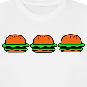 White three hamburgers junk food T-Shirts - Men's Tall T-Shirt