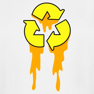 White recycle symbol dripping orange neon T-Shirts - Men's Tall T-Shirt