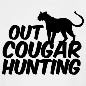 White OUT COUGAR HUNTING T-Shirts - Men's Tall T-Shirt