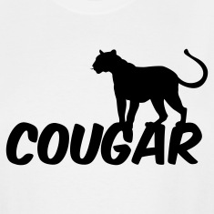White COUGAR T-Shirts