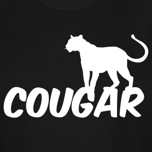 Black COUGAR T-Shirts - Men's Tall T-Shirt