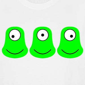 White THREE ALIENS looking the other way T-Shirts - Men's Tall T-Shirt