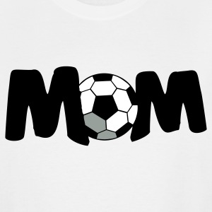 White FOOTBALL SOCCER MOM T-Shirts - Men's Tall T-Shirt