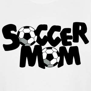 White SOCCER MOM football mother T-Shirts - Men's Tall T-Shirt