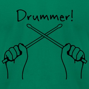 Kelly green Drummer Drumset T-Shirts - Men's T-Shirt by American Apparel