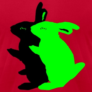 sex   rabbits - Men's T-Shirt by American Apparel