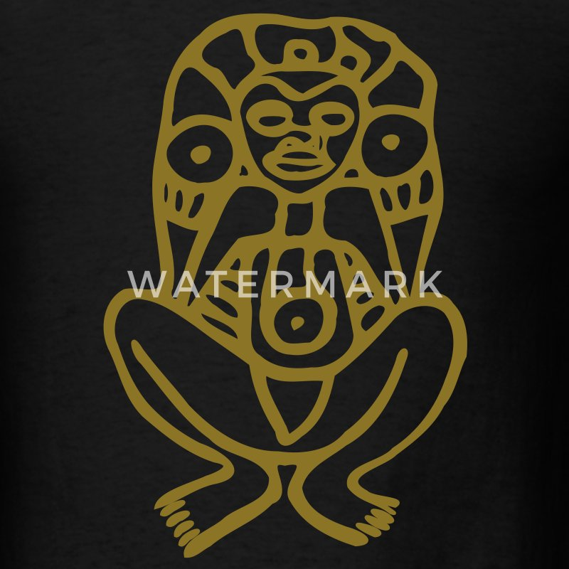 Metallic Gold Taino Design - Men's T-Shirt