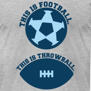 Heather grey this_is_football_DG T-Shirts - Men's T-Shirt by American Apparel