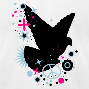 White Peace Dove - symbol of peace T-Shirts - Men's T-Shirt by American Apparel