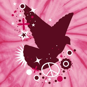 Spider pink Peace Dove - symbol of peace T-Shirts - Unisex Tie Dye T-Shirt
