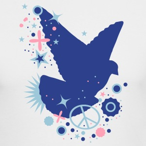 White Peace Dove - symbol of peace Long Sleeve Shirts - Men's Long Sleeve T-Shirt by Next Level