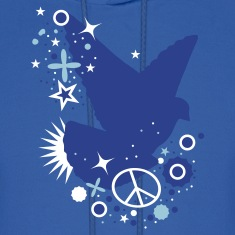 Royal blue Peace Dove - symbol of peace Hoodies