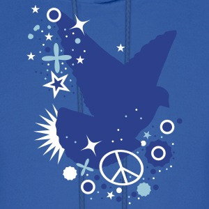 Royal blue Peace Dove - symbol of peace Hoodies - Men's Hoodie