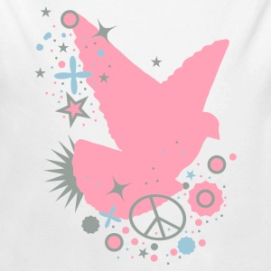 White Peace Dove - symbol of peace Baby Body - Long Sleeve Baby Bodysuit