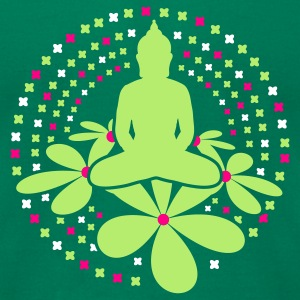 Kelly green buddha_mandala T-Shirts - Men's T-Shirt by American Apparel