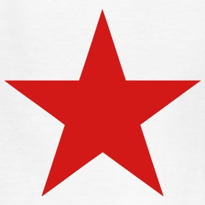 White Communist Red Star (1c) Kids' Shirts - Kids' T-Shirt
