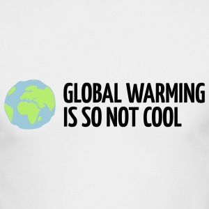 White Global Warming is not Cool (3c) Long Sleeve Shirts - Men's Long Sleeve T-Shirt by Next Level