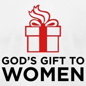 White God's Gift to Women 1 (2c) T-Shirts - Men's T-Shirt by American Apparel