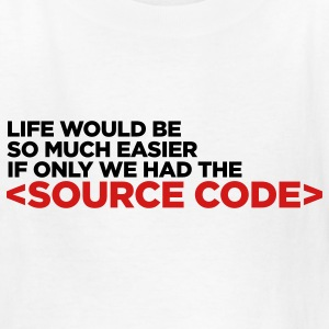 White Life's Source Code 2 (2c) Kids' Shirts - Kids' T-Shirt