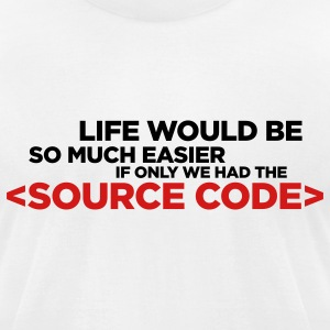 White Life's Source Code 1 (2c) T-Shirts - Men's T-Shirt by American Apparel