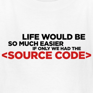 White Life's Source Code 1 (2c) Kids' Shirts - Kids' T-Shirt