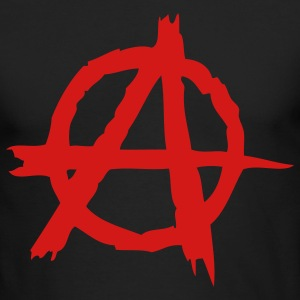 Black Anarchy (1c) Long Sleeve Shirts - Men's Long Sleeve T-Shirt by Next Level