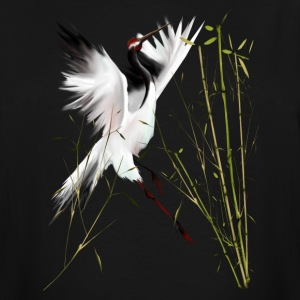 One Crane In Bamboo - Men's Tall T-Shirt