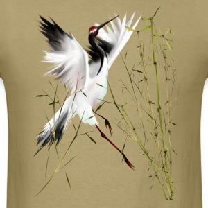 One Crane In Bamboo - Men's T-Shirt