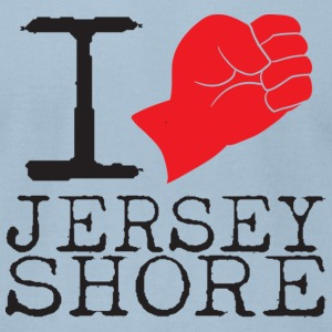 I Love Jersey Shore Fist Pump T-Shirts - Men's T-Shirt by American Apparel