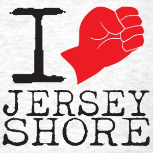 I Love Jersey Shore Fist Pump T-Shirts - Men's T-Shirt