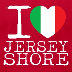 I Love Jersey Shore Italian Flag T-Shirts