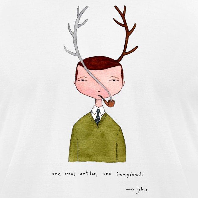 One real antler - Mens white