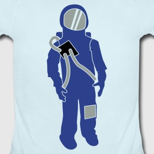 Sky blue Russian Spaceman Astronaut Space cosmonaut Baby Body - Short Sleeve Baby Bodysuit