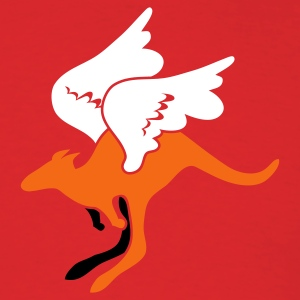 Red flying aussie Australian kangaroo T-Shirts - Men's T-Shirt