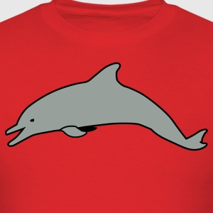 Red silver dolphin DOLPHINS T-Shirts - Men's T-Shirt