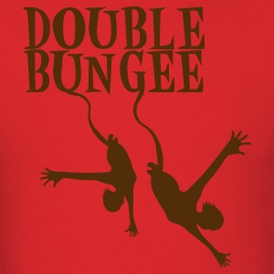 Red double bungee dropping from the sky with a partner is FUN T-Shirts - Men's T-Shirt