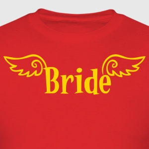 Red bride logo with wings for a hens party T-Shirts - Men's T-Shirt