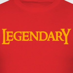 Red legendary legend in funky gothic font T-Shirts - Men's T-Shirt