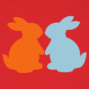 Red bunnies in love bunny rabbit lovers T-Shirts - Men's T-Shirt