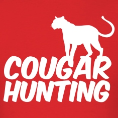 Red COUGAR HUNTING T-Shirts