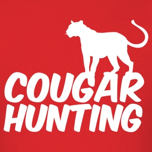 Red COUGAR HUNTING T-Shirts - Men's T-Shirt