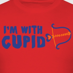 Red I'm with cupid stupid T-Shirts - Men's T-Shirt