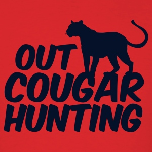 Red OUT COUGAR HUNTING T-Shirts - Men's T-Shirt