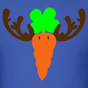 Royal blue carrot reindeer T-Shirts - Men's T-Shirt