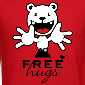 Red free hugs (1c) Long Sleeve Shirts - Crewneck Sweatshirt