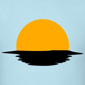 Sky blue Sunset T-Shirts - Men's T-Shirt